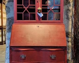 Antique Secretary Desk Etsy
