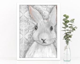 Rabbit on Pattern