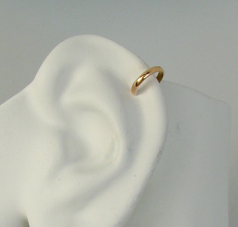 Cuff Jewelry Band Half Thick Filled Rounded Gold Nonpiercing Ear vnwN8m0O