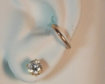 EarCUFF, ROSE PINK Gold, No piercing, Fake Conch, Ear Band, NON-pierced Cartilage Hoop, Earring Wrap, No Piercing Ring, E9RoseGF
