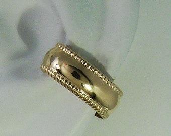 Pierced Conch Hoop Earring, Gold Cartilage Piercing, Hoop Earring for Conch Piercing, 14k Gold Filled Gauge Piercing, Beaded Edge E10BGFPOST