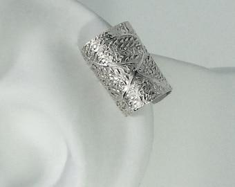 POST Pierced Cartilage Helix Hoop Hex piercing Conch Earring Body Jewelry Upper Ear Conch Tragus Rook Body Piercing Silver Forest  MC13MSSFP