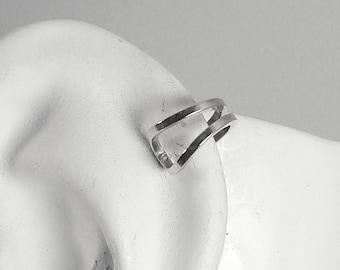 Cartilage Piercing, Helix Earring, Conch Piercing, Hex Hoop, Tragus Piercing, Rook Earring, Hex Earring, Silver Gauge Post MCDOUBSSP