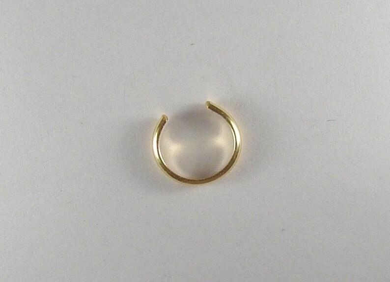 MINI Ear Cuff Cartilage Faceted Fake Helix Earring No Piercing Hoop Simple Earcuff Non-pierced Upper Ear Gold Filled Thin MCFACETEDGF