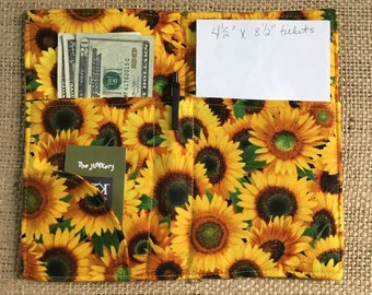 Baggage Covers Vintage Autumn Sunflower Pattern Washable Protective Case