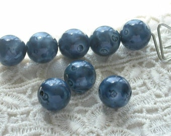 Plump Blueberries Vintage Lucite Beads 8