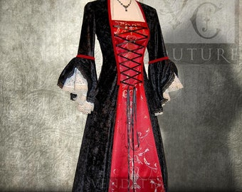 Renaissance inspired Gown Wedding dress Napoleonic  Antoinette Made to order S-XXL