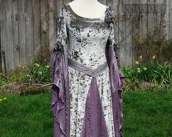 Prêt fait Viking robe Woodland médiévale mariage celtique païen mariage moyen