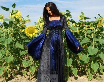 Robe de mariage robe médiévale mariage gothique disponible en tailles S à XXL sur mesure faite pour vous.