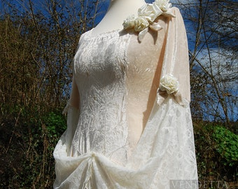Robe de mariage Viking médiévale forêt celtique païen mariage moyen prêt à envoyer