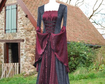 Medieval Gothic Dress Gown Game of Thrones Handfasting Available in sizes S to XXL Custom made for you