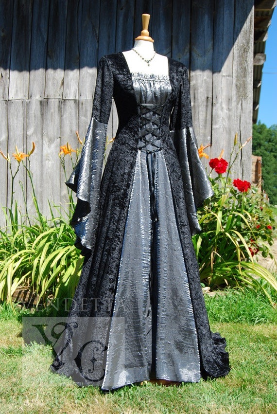 Medieval Dress Wedding gown Handfasting Available in sizes S | Etsy