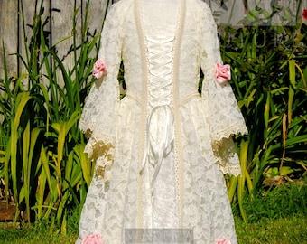 Conte de fées fleur bouton de rose pour demoiselle d'honneur enfant/fille robe de fille fait pour commander une robe en dentelle