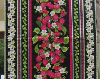 """Raspberry Stripe Table Runner - 42"""" point to point by 15 1/2"""""""