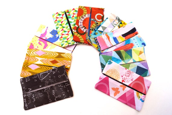 Travel Size Tissue Holder with your choice of Modern Cotton Fabric, Eclectic Cloth Pocket Size Tissue Cover