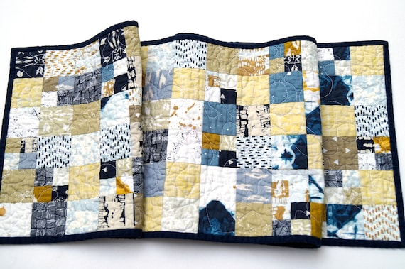 Quilted Table Runner in Southwest Style Fabric Patchwork