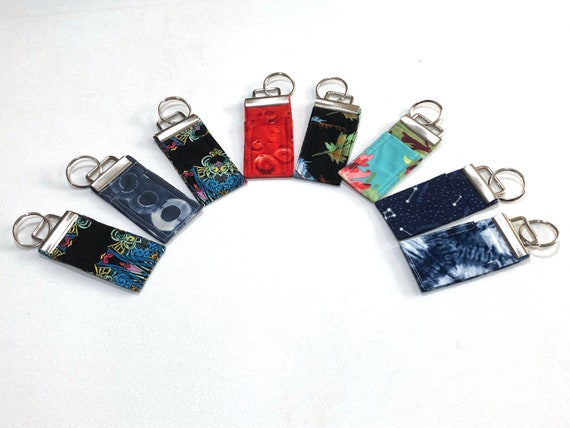 Chap Stick Holder Key Chain in your choice of Colorful Fabrics, Cloth Chap Stick Cozy