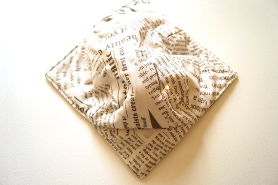 Microwave Bowl Cozy with Inspirational Text Fabric, Soup or Ice Cream Bowl Holders
