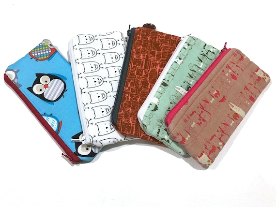 Creature Fabric Zipper Pouch or Padded Glasses Case with Choice of Pattern