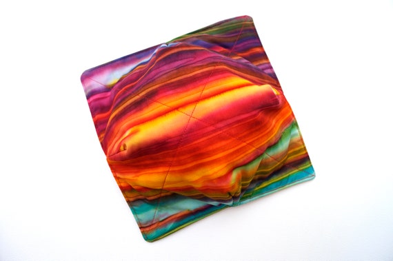 Microwave Bowl Cozy with Colorful Batik Fabric