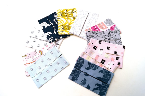 Animal Theme Travel Size Tissue Holder in Your Choice of Cotton Fabric with Cats, Dogs, Bears