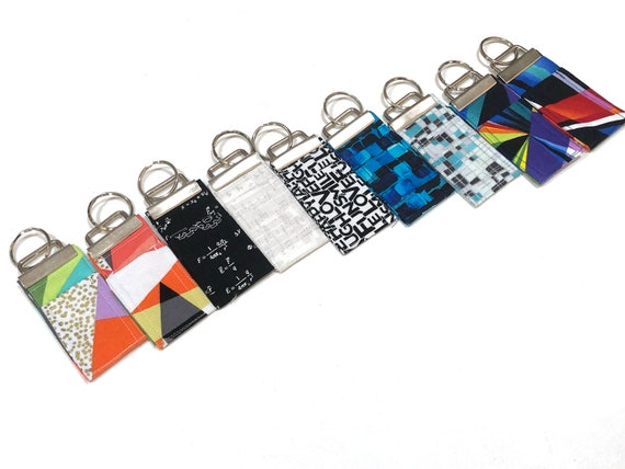 Chap Stick Holder Key Chain with Modern Fabric Option, Colorful Chapstick Keeper