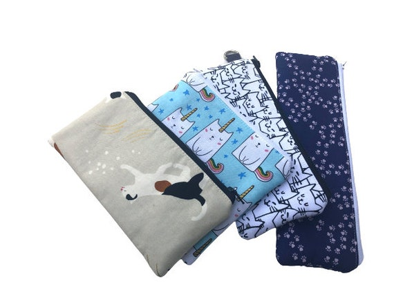 Padded Zipper Cat Pouches, Cosmetic Bags, Large Sunglass Cases