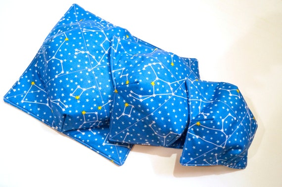 Constellation Fabric Microwave Bowl Cozy with Three Size Choices, Soup or Ice Cream Bowl Holders