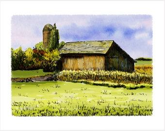 Indiana Art Print - Indiana, Merrillville Barn Artwork – Indiana, Merrillville Barn Gift
