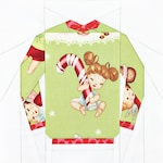 The Original Ugly Christmas Sweater Block #7 - 6 inch and 10 inch PDF Paper Piecing Pattern