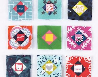 Micro Mini Economy, Hexie and Square PDF Foundation Paper Piecing Bundle