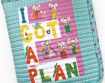 Sew Plush Planner Organizer PDF Paper Piecing Pattern with bonus Bullet Planner Quilt Blocks