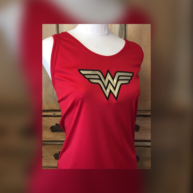 5f5cf3dee294f Wonder Woman Running outfit tank singlet tee t-shirt wicking
