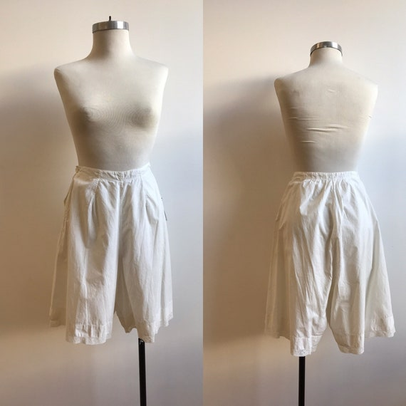 Antique Cotton Bloomers / Vintage Cotton Bloomers… - image 1