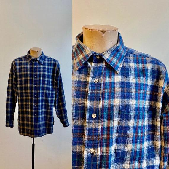 Vintage Wool Pendelton Flannel / Plaid Wool Flanne