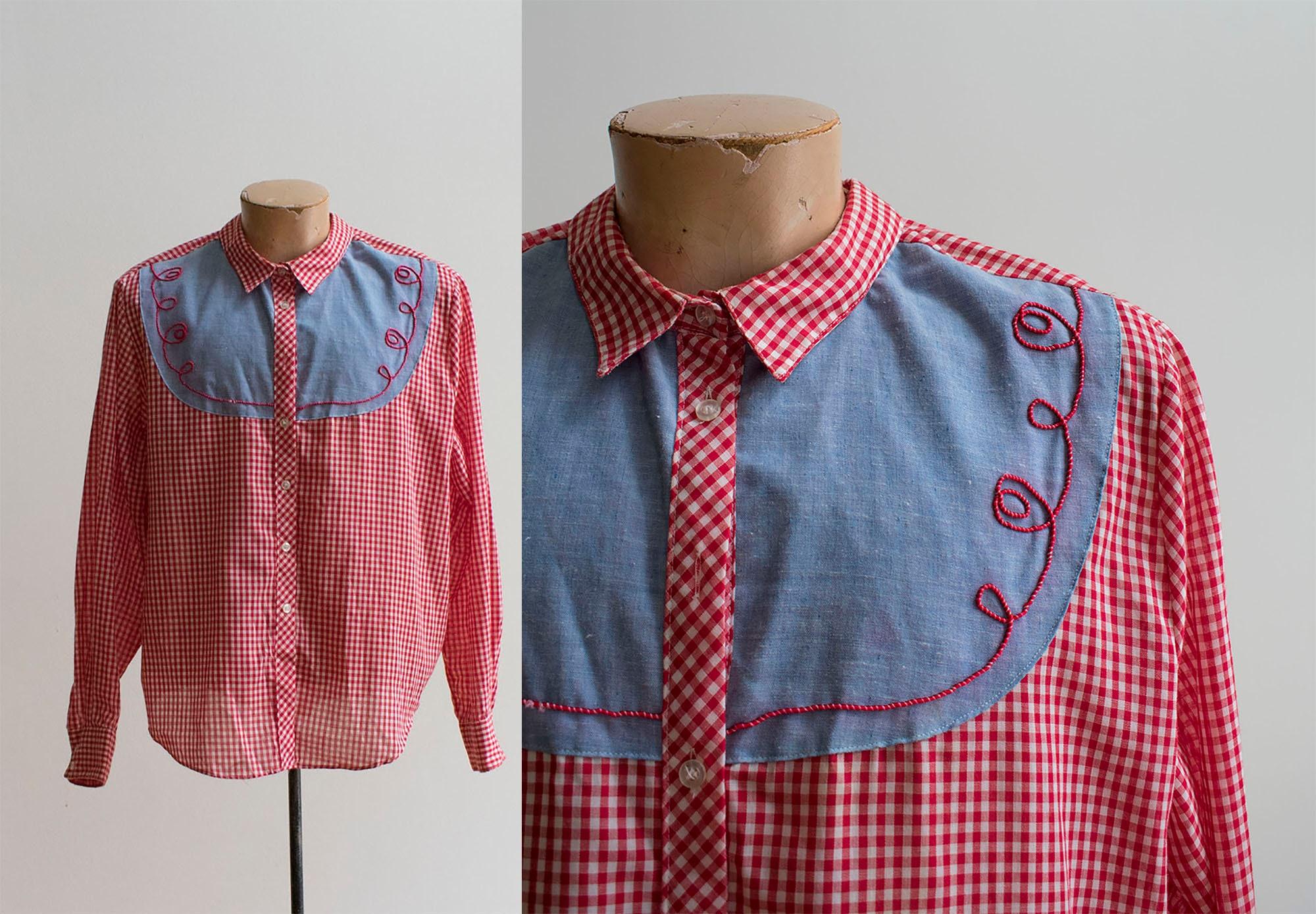 1960s – 70s Men's Ties | Skinny Ties, Slim Ties 1960S Western Button Up ShirtMens Vintage Red Gingham Lasso Wear 42 $0.00 AT vintagedancer.com