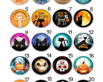 Halloween Magnets for Changeable Magnetic Pendants or Refrigerator Magnets Choose One or Set of 4