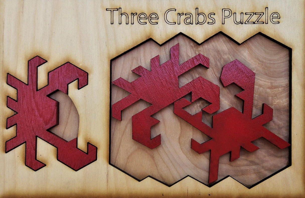 Three Crab Puzzle. Medium difficulty. | Etsy