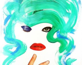 SASHA / ORIGINAL mixed media painting / collage