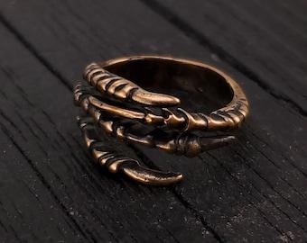 Single Oxidised Bird Leg Ring Bracelet