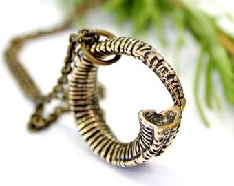Ram Horn Necklace