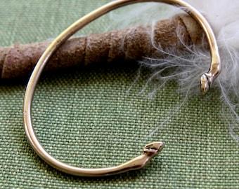 Horse Hoof Cuff Bracelet in Solid Bronze Stacking Bracelet 343