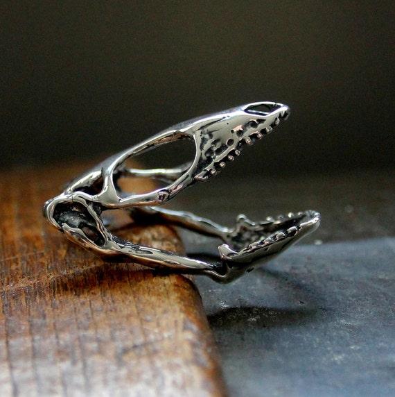 Eidechse Skull Ring Silber Skink Schädel Ring Reptil Skull | Etsy