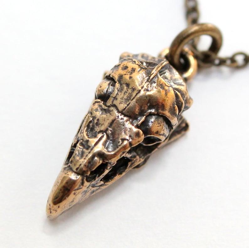 Vulture Skull Necklace Griffon Vulture Skull Pendant in Solid |Turkey Vulture Skull Pendant