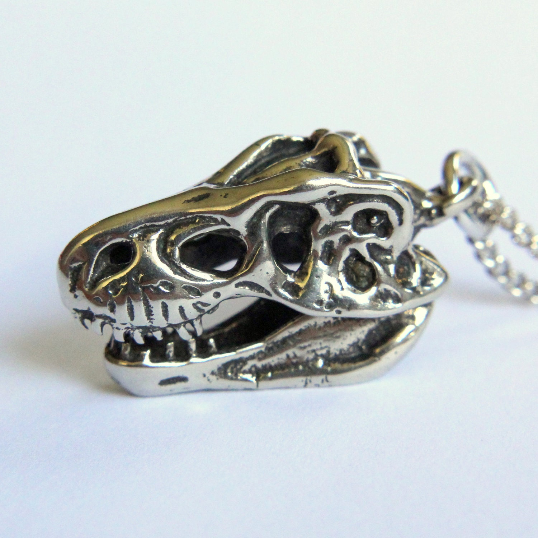 Sterling silver Animal pendant T Rex Dinosaur ancient Reptile Predator high polished 925 silver unisex pendant