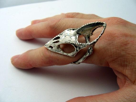 Leben Größe Chamäleon Eidechse Schädel Fingerring aus | Etsy