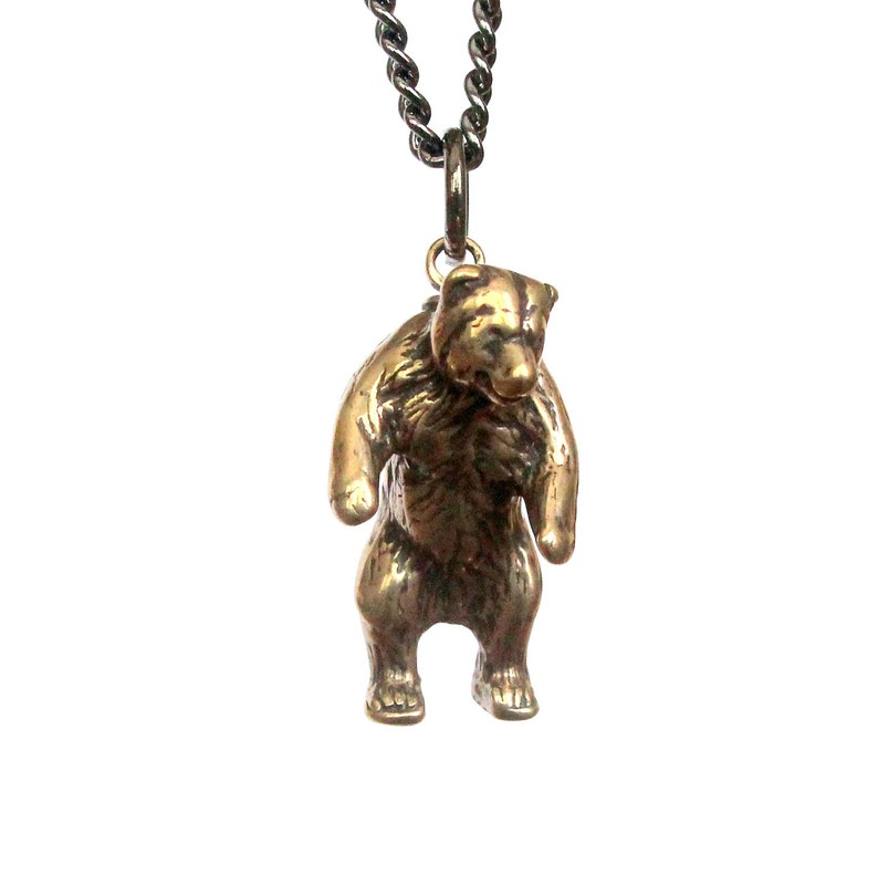 4e7784851 Mama Bear Necklace in Solid Bronze Grizzly Bear pendant | Etsy
