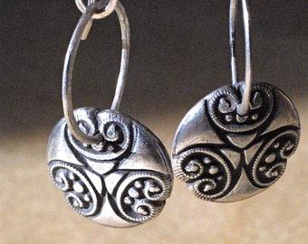 Bohemian Vintage Inspired Fine Silver Dangle Earrings