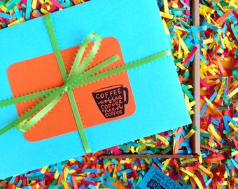 The Coffee Box (a goodie box stuffed with color and Artsyville love) ** reserved for Naomi**