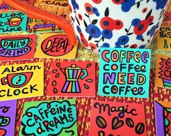 Coffee Love Mini Tiles (set of 35 prints)